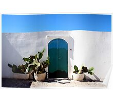 Blue Sky Summer Cacti  Poster