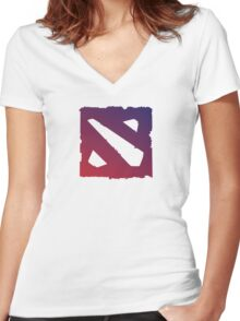 Dota 2 Shirt/Hoodie Women's Fitted V-Neck T-Shirt