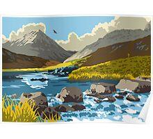 Loch an t-Siob, Isle of Jura Poster