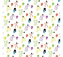 Dancing skeleton pattern Photographic Print