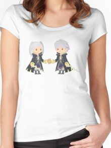 Chibi Robins Vector Women's Fitted Scoop T-Shirt