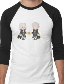 Chibi Robins Vector Men's Baseball ¾ T-Shirt