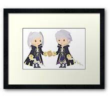 Chibi Robins Vector Framed Print