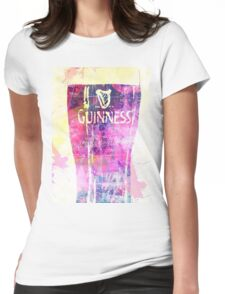 Guinness all in pink Womens Fitted T-Shirt