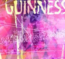 Guinness all in pink Sticker