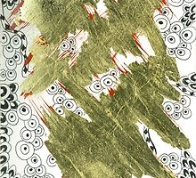 Golden (Mixed Media and Pattern) by Artuition