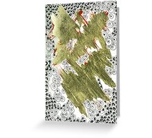 Golden (Mixed Media and Pattern) Greeting Card