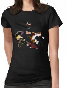 calvin and hobbes 2 Womens Fitted T-Shirt