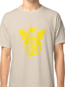 Bee Rock Cool Bee Graphic Typo Design Classic T-Shirt