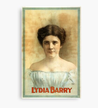 Lydia Barry - Courier - 1899 Canvas Print