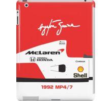 Ayrton Senna's 1992 McLaren MP4/7 iPad Case/Skin