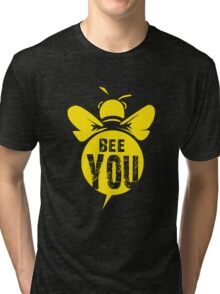 Bee You Cool Bee Graphic Typo Design Tri-blend T-Shirt