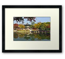 Hyangwonjeong Pavilion in Autumn Framed Print