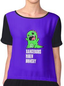 Dangerous When Hungry Chiffon Top