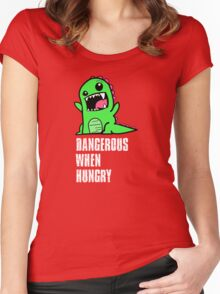 Dangerous When Hungry Women's Fitted Scoop T-Shirt