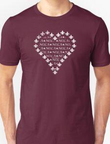 NOLA Fleur de Lis Heart (White) Unisex T-Shirt