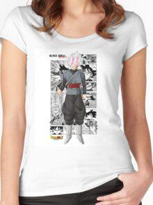 Super Saiyan Rose Black! Women's Fitted Scoop T-Shirt