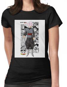 Super Saiyan Rose Black! Womens Fitted T-Shirt