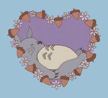 Sleeping Totoro - Purple Baby Tee