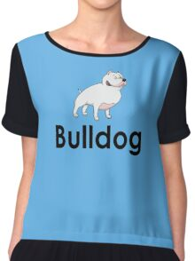 Bulldog Dog Owner Sticker Chiffon Top