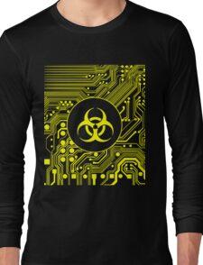 Yellow Biohazard (Cybergoth) Long Sleeve T-Shirt