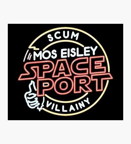 Star Wars Mos Esley neon insigna Photographic Print
