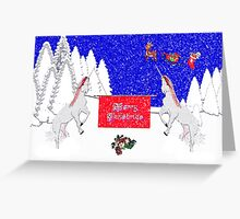 Merry Christmas from Two Unicorns Greeting Card