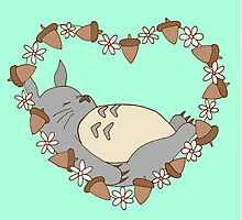 Sleeping Totoro - Green Photographic Print