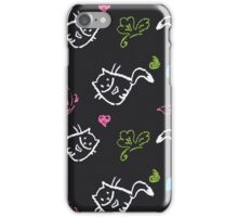 pattern with cats,hearts,butterfly iPhone Case/Skin