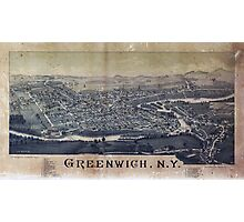 Aerial View of Greenwich, New York (1885) Photographic Print