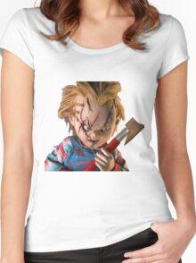 chucky, muñeca, diablos, mal, horror, Chukky, chuky, Women's Fitted Scoop T-Shirt