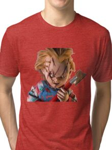 chucky, muñeca, diablos, mal, horror, Chukky, chuky, Tri-blend T-Shirt
