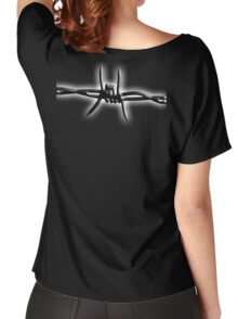 Barbed Wire, Fence, Conflict, War Women's Relaxed Fit T-Shirt