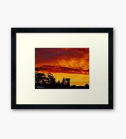 Night Sky at Somerset Framed Print