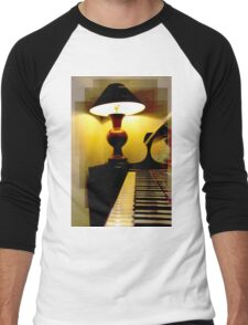 Music Lights Up The World Men's Baseball ¾ T-Shirt