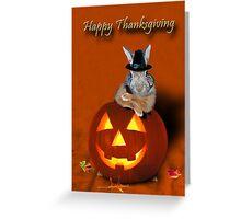 Thanksgiving Pilgrim Bunny Greeting Card