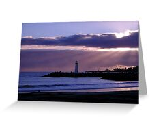Sunset From Twin lakes Beach Greeting Card