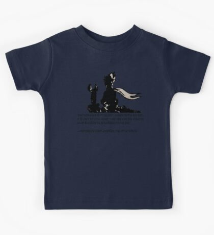 The little prince and the fox - QUOTE - sepia Kids Tee