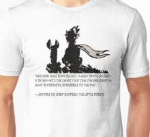 The little prince and the fox - QUOTE - sepia Unisex T-Shirt