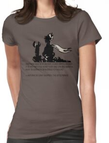 The little prince and the fox - QUOTE - sepia Womens Fitted T-Shirt