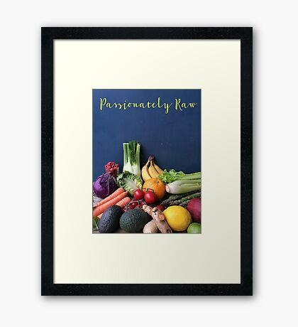 Passionately Raw Fruits And Vegetables Still Life Framed Print
