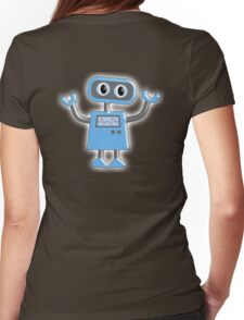 Robot, Toy, Blue, 1950s Womens Fitted T-Shirt