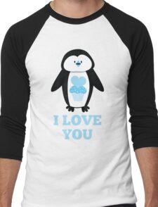 I love you penguin Men's Baseball ¾ T-Shirt