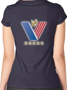 US Veterans, USA, America, American, Serviceman, Navy Blue Women's Fitted Scoop T-Shirt
