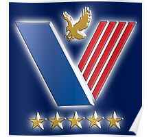 US Veterans, USA, America, American, Serviceman, Navy Blue Poster