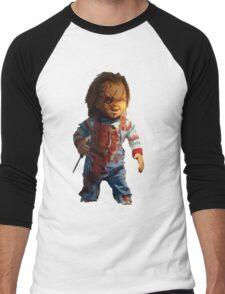 chucky, muñeca, diablos, mal, horror, Chukky, chuky, Men's Baseball ¾ T-Shirt