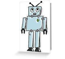 ROBOT, Line drawing, 1950s Greeting Card