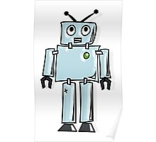ROBOT, Line drawing, 1950s Poster
