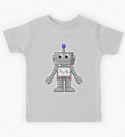 ROBOT, Cartoon, Smiley, Robotics, Toon, Kids Tee
