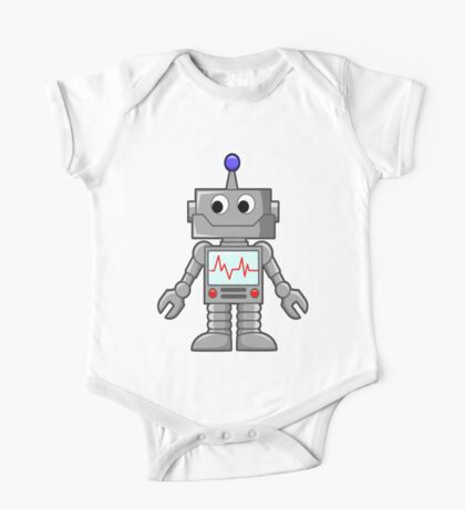 ROBOT, Cartoon, Smiley, Robotics, Toon, One Piece - Short Sleeve